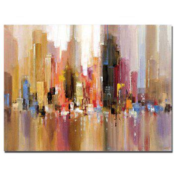 Pure Handmade Abstract Building Oil Painting on Canvas Living Room Wall Decor No Frame - V V