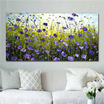 Hand Painted Abstract Purple Field Landscape Oil Painting on Canvas Living Room Bedroom Wall Decor No Framed - PURPLE PURPLE