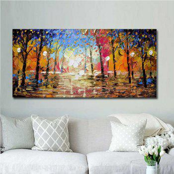 High Quality Hand Painted Abstract Palette Knife Landscape Oil Painting on Canvas Living Room Bedroom Home Wall Decor - COLOR 24 X 48 INCH (60CM X 120CM)