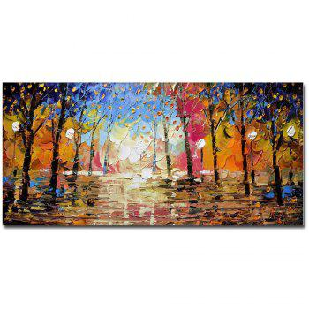 High Quality Hand Painted Abstract Palette Knife Landscape Oil Painting on Canvas Living Room Bedroom Home Wall Decor - COLOR COLOR