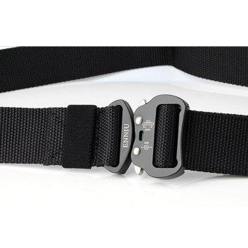 Quick Dry Tactical Heavy Duty Waist Belt  Quick-Release Military Style Shooters Nylon Belts with Metal Buckle - BLACK