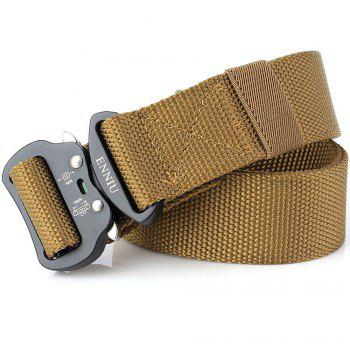 Quick Dry Tactical Heavy Duty Waist Belt  Quick-Release Military Style Shooters Nylon Belts with Metal Buckle -  BROWN