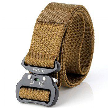 Quick Dry Tactical Heavy Duty Waist Belt  Quick-Release Military Style Shooters Nylon Belts with Metal Buckle - BROWN BROWN