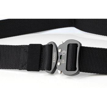 ENNIU Quick Dry Tactical Heavy Duty Waist Belt  Quick-Release Military Style Shooters Nylon Belts with Metal Buckle - BLACK