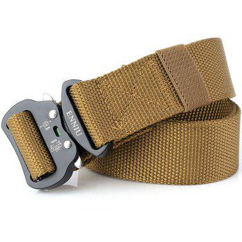 ENNIU Quick Dry Tactical Heavy Duty Waist Belt  Quick-Release Military Style Shooters Nylon Belts with Metal Buckle - BROWN