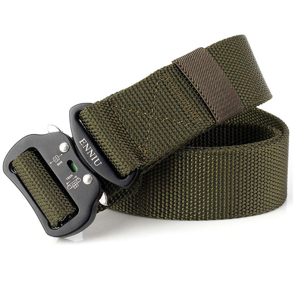Quick Dry Tactical Heavy Duty Waist Belt  Quick-Release Military Style Shooters Nylon Belts with Metal Buckle - GREEN