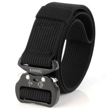 Quick Dry Tactical Belt Quick-Release Military Style Shooters Belt with Metal Buckle - BLACK BLACK