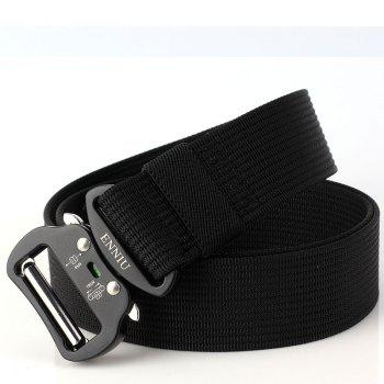 Quick Dry Tactical Belt Quick-Release Military Style Shooters Belt with Metal Buckle - BLACK