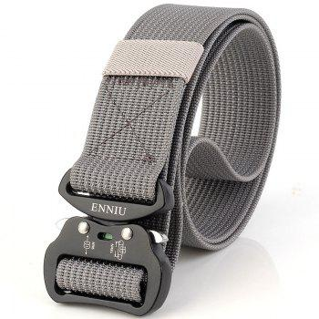Quick Dry Tactical Belt Quick-Release Military Style Shooters Belt with Metal Buckle - GRAY GRAY