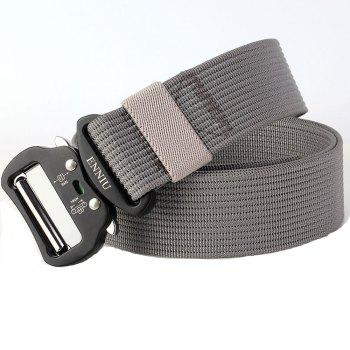 Quick Dry Tactical Belt Quick-Release Military Style Shooters Belt with Metal Buckle -  GRAY