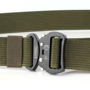 Quick Dry Tactical Belt Quick-Release Military Style Shooters Belt with Metal Buckle -  GREEN