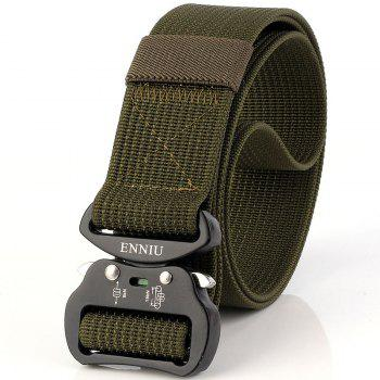 Quick Dry Tactical Belt Quick-Release Military Style Shooters Belt with Metal Buckle - GREEN GREEN