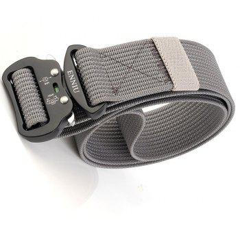 ENNIU Quick Dry Tactical Belt Quick-Release Military Style Shooters Belt with Metal Buckle - GRAY
