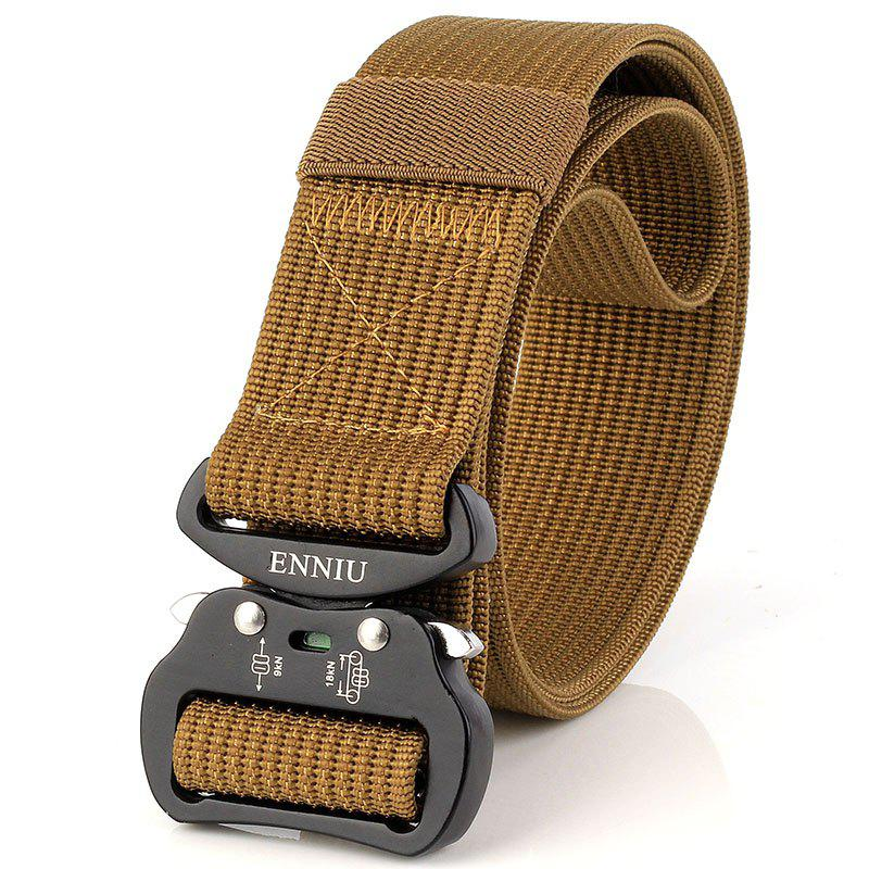 ENNIU Quick Dry Tactical Belt Quick-Release Military Style Shooters Belt with Metal Buckle - BROWN