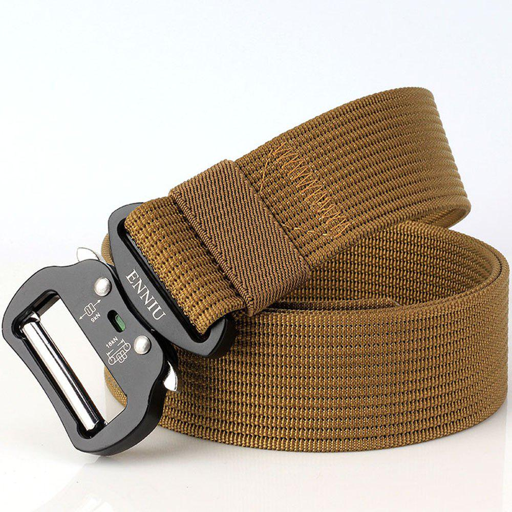 Quick Dry Tactical Belt Quick-Release Military Style Shooters Belt with Metal Buckle - BROWN