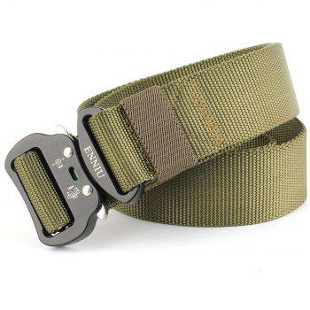 Tactical Heavy Duty Waist Belt Quick-Release Military Style Shooters Belt with Metal Buckle - GREEN GREEN