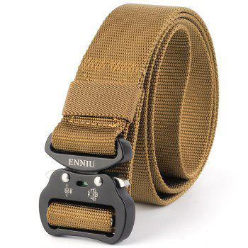 Tactical Heavy Duty Waist Belt Quick-Release Military Style Shooters Belt with Metal Buckle - BROWN BROWN