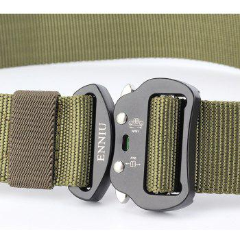 ENNIU Tactical Heavy Duty Waist Belt Quick-Release Military Style Shooters Belt with Metal Buckle - GREEN