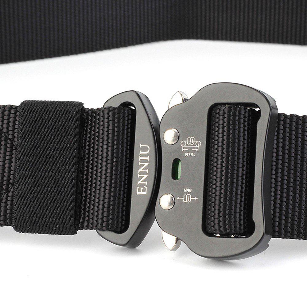 Tactical Heavy Duty Waist Belt Quick-Release Military Style Shooters Belt with Metal Buckle - BLACK