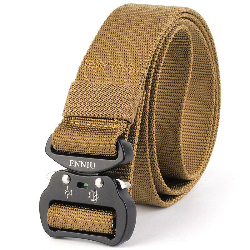 ENNIU Tactical Heavy Duty Waist Belt Quick-Release Military Style Shooters Belt with Metal Buckle - BROWN