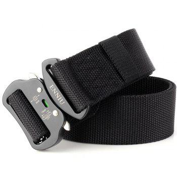 Fashion Design Multi-Function Tactical Belt Quick-Release Military Style Shooters Nylon Belt with Metal Buckle - BLACK BLACK