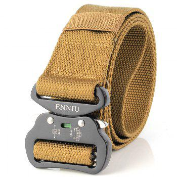 Fashion Design Multi-Function Tactical Belt Quick-Release Military Style Shooters Nylon Belt with Metal Buckle - BROWN BROWN