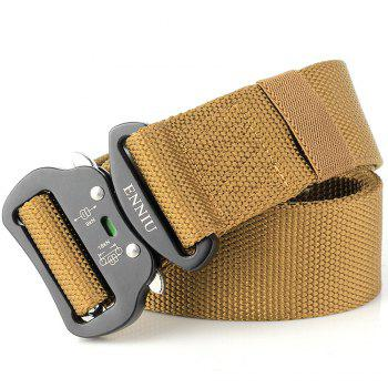 Fashion Design Multi-Function Tactical Belt Quick-Release Military Style Shooters Nylon Belt with Metal Buckle - BROWN