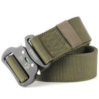 Fashion Design Multi-Function Tactical Belt Quick-Release Military Style Shooters Nylon Belt with Metal Buckle - GREEN