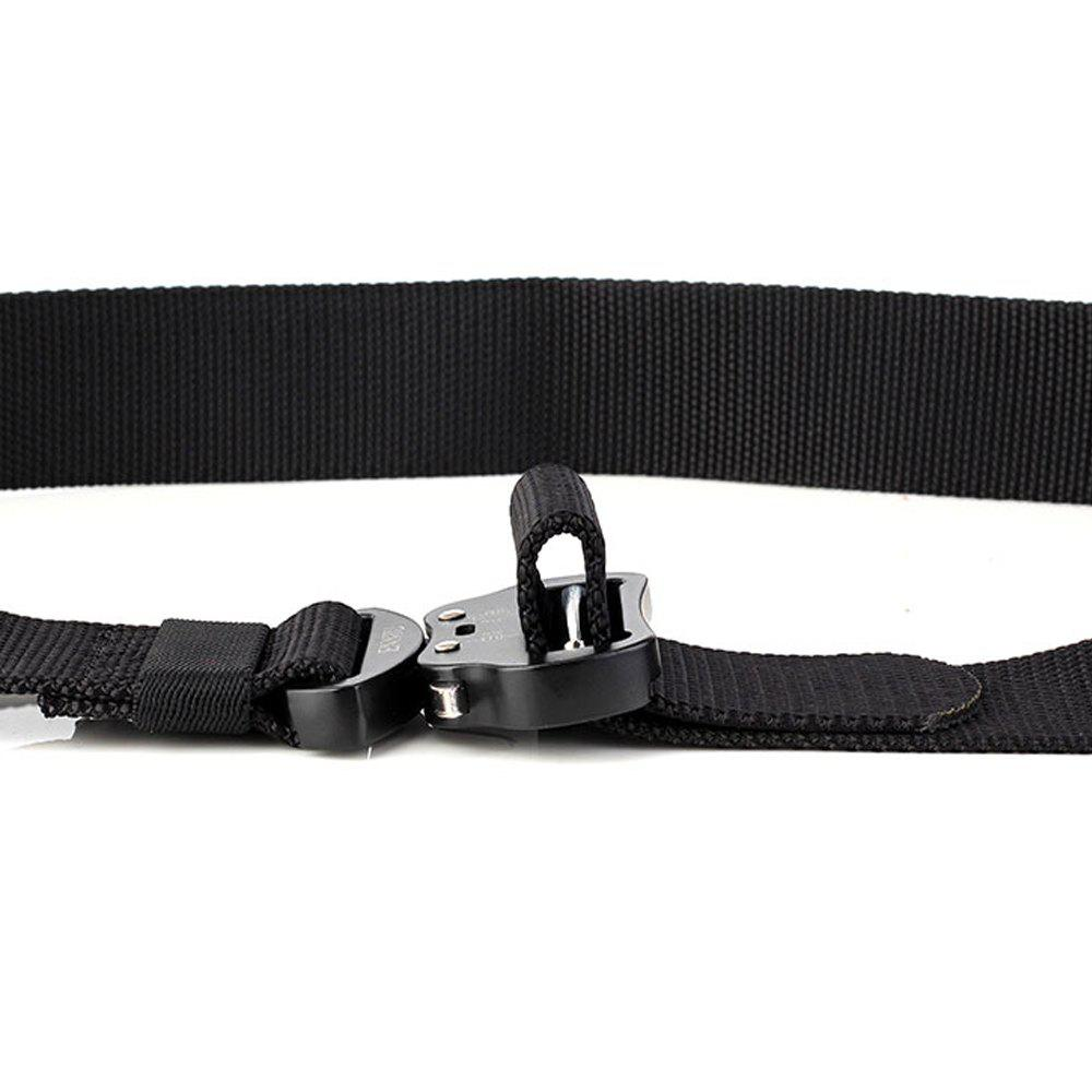 Fashion Design Multi-Function Tactical Belt Quick-Release Military Style Shooters Nylon Belt with Metal Buckle - BLACK