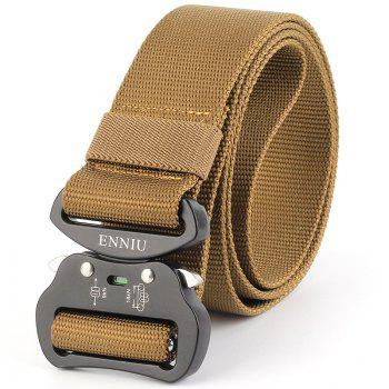Multi-Function Tactical Waist Belt Quick-Release Military Style Shooters Nylon Weaving Belt with Metal Buckle - BROWN BROWN