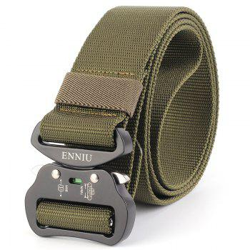 Multi-Function Tactical Waist Belt Quick-Release Military Style Shooters Nylon Weaving Belt with Metal Buckle - GREEN GREEN