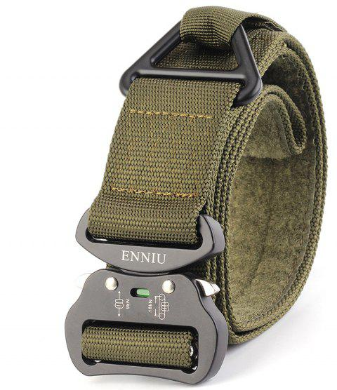ENNIU Quick Dry Multi-Function Tactical Military Nylon Belt with Metal Buckle - SPRING GREEN