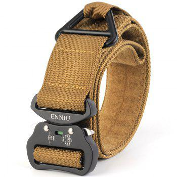 Quick Dry Multi-Function Tactical Military Nylon Belt with Metal Buckle - BROWN BROWN