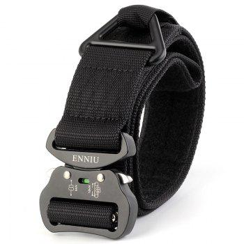 Quick Dry Multi-Function Tactical Military Nylon Belt with Metal Buckle - BLACK BLACK
