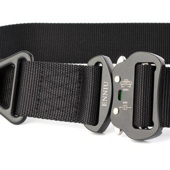 Quick Dry Multi-Function Tactical Military Nylon Belt with Metal Buckle -  BLACK