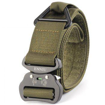 Quick Dry Multi-Function Tactical Military Nylon Belt with Metal Buckle - GREEN GREEN