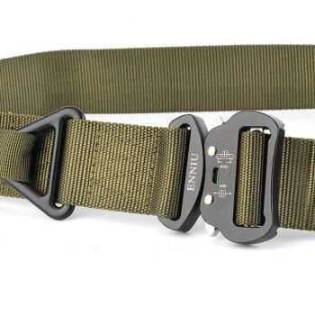 Quick Dry Multi-Function Tactical Military Nylon Belt with Metal Buckle - GREEN