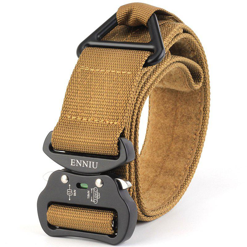Quick Dry Multi-Function Tactical Military Nylon Belt with Metal Buckle - BROWN