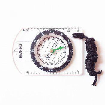 Mini Baseplate Compass Map Scale Ruler Outdoor Camping Hiking Cycling Accessory - TRANSPARENT TRANSPARENT