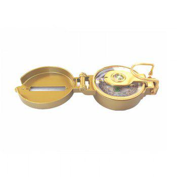 Multi-Function Military Aluminum Alloy Compass Mountaineering Hiking Climbing Accessory - GOLDEN
