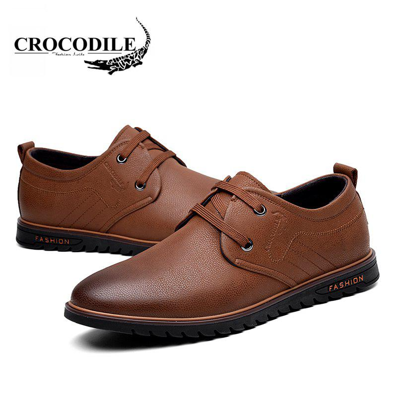 CROCODILE The New 2018 Men Casual Shoes WFX00372037 - BROWN 38