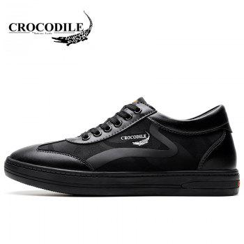 CROCODILE Inside Heighten The New Men's Casual Shoes 2018 WFX00372046 - BLACK 38