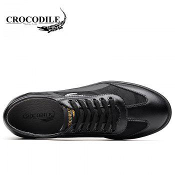 CROCODILE Inside Heighten The New Men's Casual Shoes 2018 WFX00372046 - BLACK BLACK
