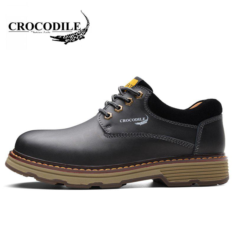 CROCODILE Tooling Loafers Male WFX00372055 - BLACK 38