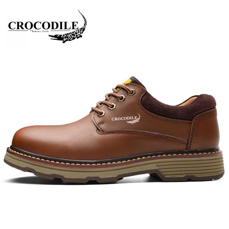 CROCODILE Tooling Loafers Male WFX00372055 - BROWN 38