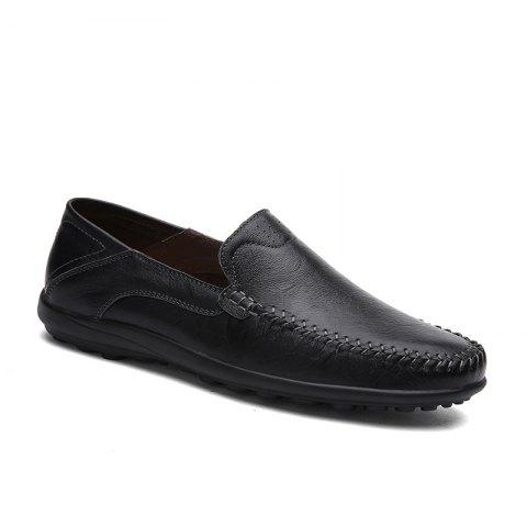 New Leather Doug Casual Shoes 8008 - BLACK 43