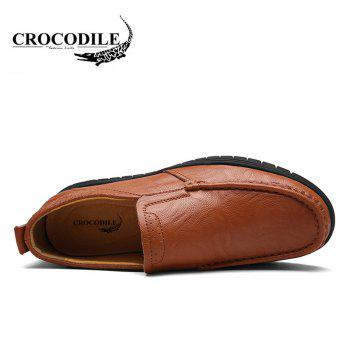 CROCODILE The New Fashion Men's Casual Shoes 8037 - BROWN 44