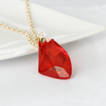 Fashion Ruby Pendant Necklace - RED