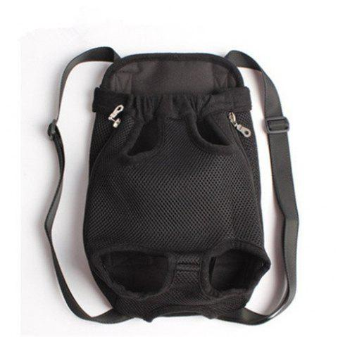 Pets Go Out Chest Backpack - BLACK XL