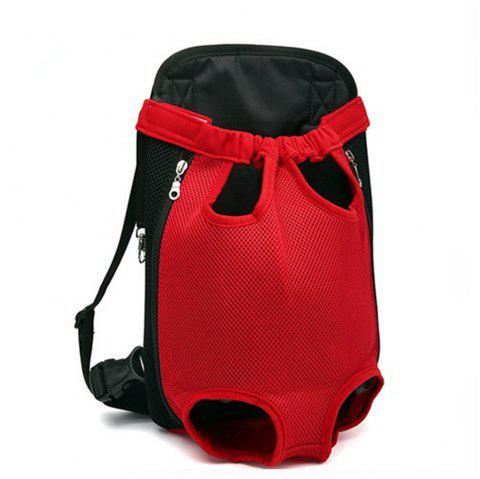 Pets Go Out Chest Backpack - RED L